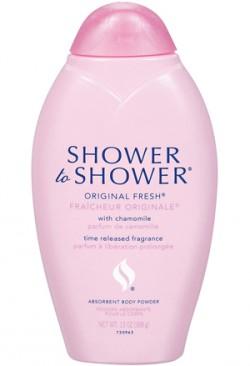Shower to Shower body powder