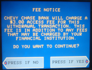 Chase ATM Fee
