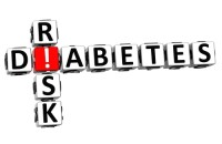 3D Diabetes Risk Crossword on white background