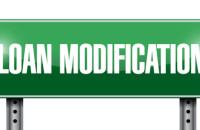 loan modification street sign illustration design over a white background